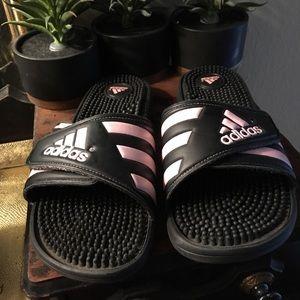 Adidas women slippers size 9